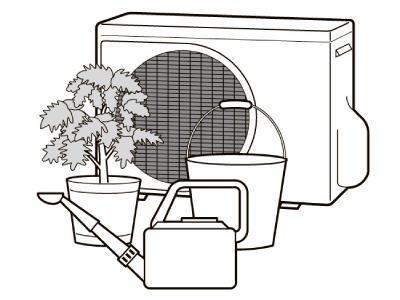 見落としがちなエアコンの室外機も、ちゃんと動作できる状態かチェック